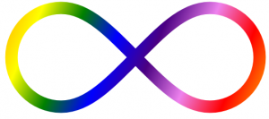 Coloured infinity symbol