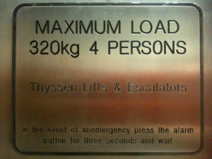 "Lift sign showing word ""anemergency"""
